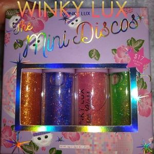 🕺Winky Lux Mini Discos 4 piece lip gloss set